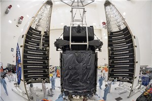 Sealed Up, Ready to Go: USAF's SBIRS GEO Flight-4 Missile Warning Satellite Encapsulated for Launch