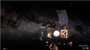 Space Smash: Simulating When Satellites Collide