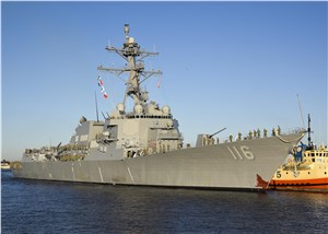 Navy to Commission Guided-Missile Destroyer Thomas Hudner