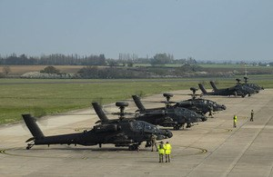 Apaches Take Off for Estonia