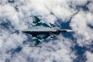 Saab Presents First Gripen E to Brazil