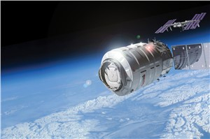 Cygnus Spacecraft on its Way to the ISS