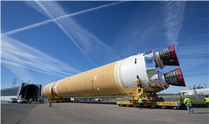 Boeing Rolls Out First Space Launch System Core Stage for Delivery to NASA