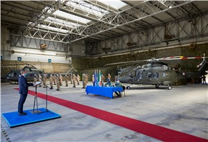 Leonardo Delivers its 1st AW169 Basic Training Helicopter to the Italian Army